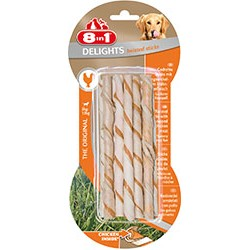 8IN1*10 TWISTED STICKS POLLO 55GR