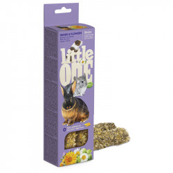 LITTLE ONE 2 STICK CAVIE,CONIGLI,CINCILLA',ERBE-FIORI 55 G