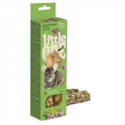 LITTLE ONE 2 STICK CAVIE,CONIGLI,CINCILLA',ERBE DI CAMPO 55 G